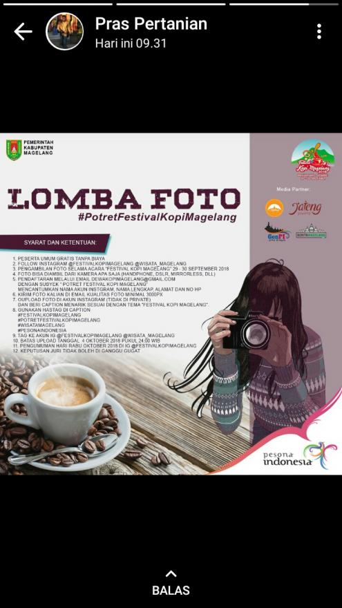 Image : Lomba Foto Festifal Kopi